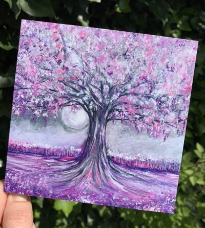 The Tree of Silent Dreams - Blank greetings card, with envelope, 127mm x 127mm