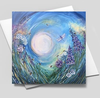 The Bees & the Dragonfly card